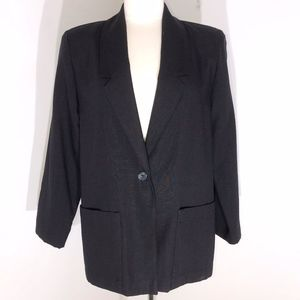 Radcliffe blazer size 8 black shoulder pads
